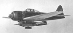 Japanese pilot Nishizawa flying his A6M3a Model 22 Zero fighter in the Solomon Islands area, 7 May 1943