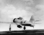 A Zero fighter took off from Akagi for the attack on Pearl Harbor in the US Territory of Hawaii, 7 Dec 1941