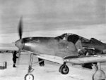 P-39L-1-BE Airacobra aircraft being prepared to be flown to the Soviet Union under the Lend-Lease Program, possibly Nome, Alaska, 1943-1944