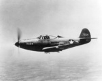 P-39F-1-BE Airacobra in flight, 1942