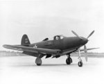 P-39C-BE Airacobra fighter of 40th Pursuit Squadron of USAAF 31st Pursuit Group at Selfridge Field, Harrison, Michigan, United States, 1941