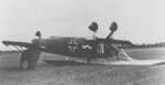 Flipped-over Ar 68 aircraft, date unknown