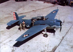 TBF Avenger aircraft at rest, circa early 1942