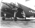 TBM-1C Avenger aircraft of US Navy Torpedo Squadron 80 (VT80), Westerly, Rhode Island, United States, circa 2 Feb 1944, photo 2 of 2