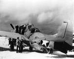The only survivor out of the six land-based Avenger torpedo bombers at the Battle of Midway, 25 Jun 1942, photo 1 of 3