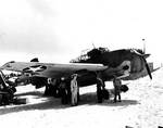 The only survivor out of the six land-based Avenger torpedo bombers at the Battle of Midway, 25 Jun 1942, photo 2 of 3
