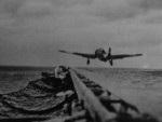 B5N aircraft taking off from a carrier, 1941-1942