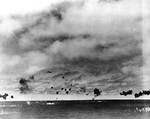 B5N from carrier Hiryu attacked Yorktown during Battle of Midway, 4 Jun 1942