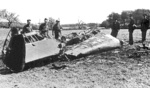 The wreckage of Rudolf Heß