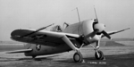 F2A-2 Buffalo fighter at rest, NACA Langley Research Center, Hampton Virginia, United States, 9 Feb 1943