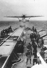 Do 18 aircraft taking off from a seaplane tender, date unknown