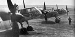 Three BV 141B aircraft at rest at an airfield, date unknown