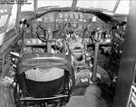 Cockpit of a C-46 Commando aircraft, 1942