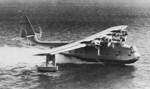 XPB2Y-1 prototype aircraft taxiing on water, 1938