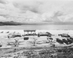 US F4U-1 Corsair, US F6F-3 Hellcat, US SBD Dauntless, and New Zealand Kittyhawk Mk. IV aircraft at the Barakoma airfield at Vella Lavella, Solomon Islands, 10 Dec 1943