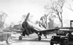 F4U-1 Corsair fighter of No. 14 Squadron Royal New Zealand Air Force at Bougainville, Solomon Islands, 1944