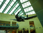 Suspended Corsair in the Leatherneck Gallery at the National Museum of the Marine Corps, Quantico, Virginia, United States, 15 Jan 2007, photo 1 of 3