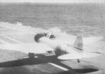 D3A dive bomber taking off from carrier Akagi, Indian Ocean, 5 Apr 1942