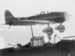 Akimoto Tamotsu and Koitabashi Hiroshi flying their D3A carrier dive bomber (foreground) returning to carrier Shokaku after attacking USS Enterprise during Battle of the Eastern Solomons, 24 Aug 1942