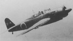 A D4Y3 Model 33 dive bomber in flight, circa 1944
