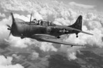 RA-24B-15-DT Banshee aircraft (serial number 42-54897) in a non-combat role attached to the US Air Transport Command in flight, United States, 1944-1945