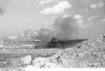 German DFS 230 C-1 glider being destroyed after use at Gran Sasso, Italy, 12 Sep 1943, photo 1 of 7