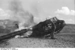German DFS 230 C-1 glider being destroyed after use at Gran Sasso, Italy, 12 Sep 1943, photo 3 of 7