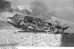 German DFS 230 C-1 glider being destroyed after use at Gran Sasso, Italy, 12 Sep 1943, photo 5 of 7