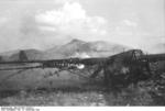 German DFS 230 C-1 glider being destroyed after use at Gran Sasso, Italy, 12 Sep 1943, photo 6 of 7