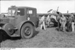 German 55 PS Lanz Bulldog tractor and DFS 230 glider, Italy, 1943