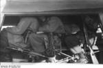 German glider troops in a DFS 230 glider, Italy, Sep 1943; note array of small arms