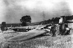 Wreckage of a Do 17 aircraft in Britain, 18 Aug 1940