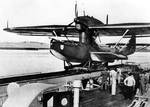 Do 18 float plane resting atop a catapult, date unknown