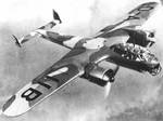 Do 217 bomber in flight, date unknown