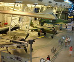 Fw 190 F, Arado Ar 234 B, and Do 335 A Pfeil aircraft, Smithsonian Air and Space Museum Udvar-Hazy Center, Chantilly, Virginia, United States, 26 Apr 2009; fuselage of He 219 Uhu night fighter in back