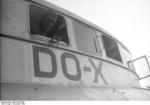 German pilot Friedrich Christiansen at an open window of a Do X flying boat, Nov 1930