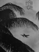 E14Y floatplane in flight somewhere in the South Pacific, 1941-1943
