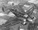 UC-45F Expeditor aircraft in flight, Aug 1943-Jan 1947