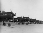 FR-1 Fireball fighters of US Navy squadron VF-66 at rest, Naval Air Station North Island, California, United States, 1945