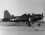FR-1 Fireball fighter of US Navy squadron VF-66 at rest, Naval Air Station North Island, California, United States, 1945
