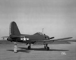 FR-1 Fireball fighter at rest at Moffet Field, California, United States, 26 Feb 1945