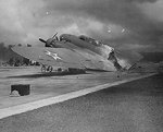 Wreck of B-17C bomber at Hickam Field, US Territory of Hawaii, 7 Dec 1941. Photo 1 of 2.