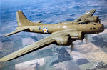 B-17E Flying Fortress bomber in flight, 1941-1942