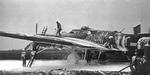 Ground crew extinguishing fire aboard B-17 Flying Fortress bomber