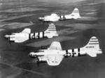 Three radio-controlled B-17G-90-DL Flying Fortress drone aircraft in flight, probably out of Eglin Field, Florida, United States, 6 Aug 1946