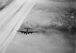 B-17 bomber of US 447th Bomb Group in flight toward Frankfurt, Germany, 20 Mar 1944
