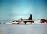 B-17E bomber taking off from Eastern Island, Midway Atoll, May-Jun 1942