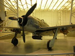 Fw 190 F fighter on display at the Smithsonian Air and Space Museum Udvar-Hazy Center, Chantilly, Virginia, United States, 26 Apr 2009