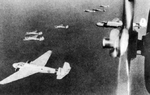 G3M1 and G3M2 bombers in flight, circa 1940s