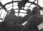 View of the pilot cabin of G4M aircraft, 1942